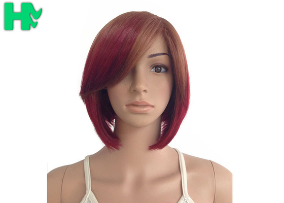 China Normal Lace Red Synthetic Hair Wigs 22 Inch Kanekalon Hair Weave supplier