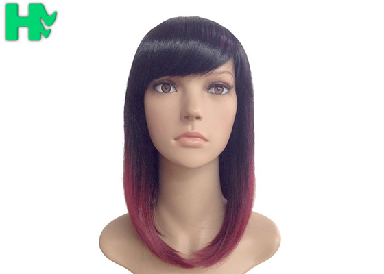 China Kanekalon Fiber Synthetic Hair Wigs Natural Looking , Bobos Hair Extensions supplier