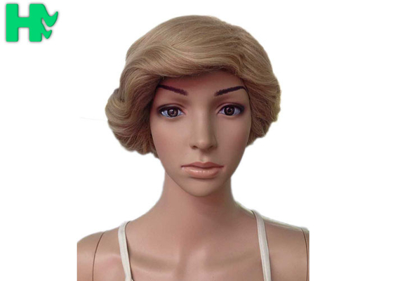 China Dark Blonde Short Synthetic Wigs Full Lace With Short Ponytail Wigs supplier