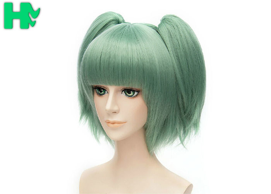 China Thick Cute Anime Green Cosplay Wig Heat Resistant Wigs Cosplay supplier