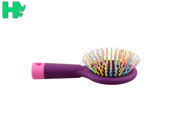 China Polyester Rainbow Massage Comb For Straight Hair Or Curly Hair supplier