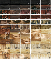 China Synthetic Blonde Hair Color Chart / Hair Dye Color Chart Customer supplier