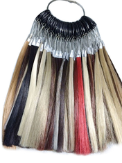 China Synthetic Wig Fiber Hair Color Ring Chart For High Temperature supplier