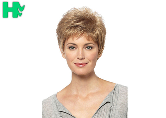 China Short Synthetic Wigs Lace Front Wigs With Baby Hairline No Shedding supplier