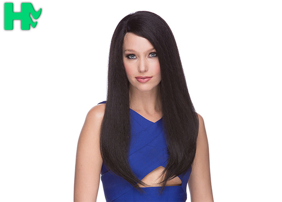 China Lace Front Synthetic Wigs Heat Resistant Natural Hair Line Kinky Straight supplier