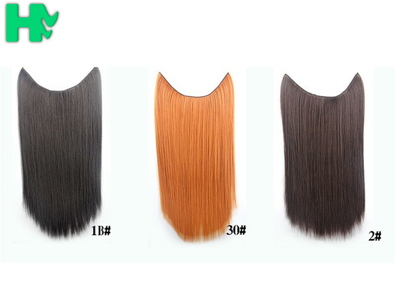 China Synthetic Fibre Hair Extensions Straight Double Drawn Human Hair Wefts supplier