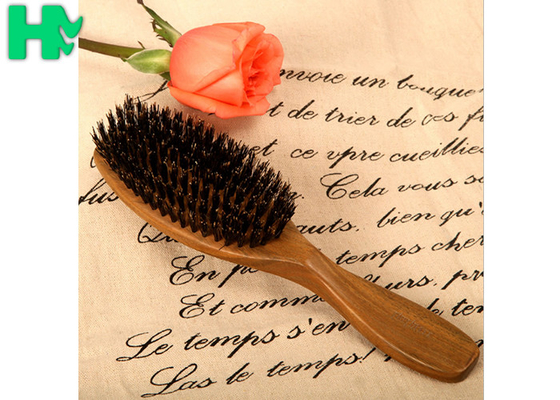 China Ebony Material Natural Sandalwood Green Tan Hair Comb , Wooden Comb Style supplier