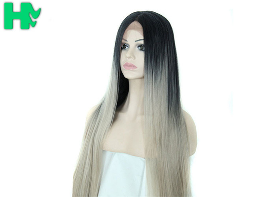 China Mixed Color Synthetic Front Lace Wigs With No Shedding And No Tangle supplier