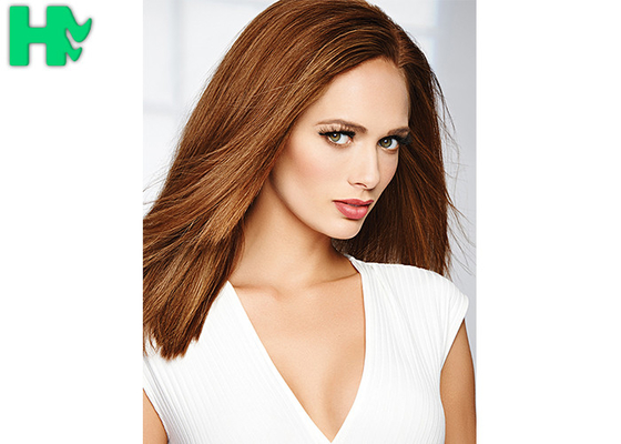 China Popular Brown Color Synthetic Front Lace Wigs High Temperature Fiber Straight Hair Wig supplier