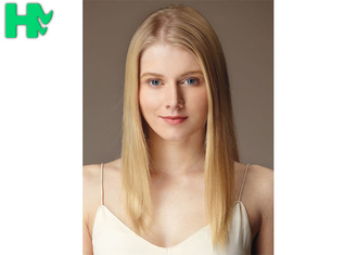 China Blonde Color Hair Beautiful Girl Wear Synthetic Clip In Hair Extension Popular supplier