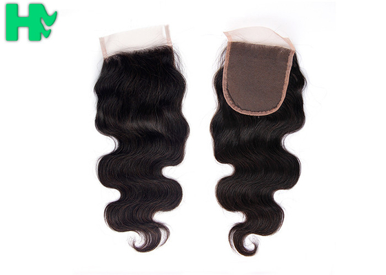 China New Fashion 100% Human Hair Closure 4*4 Wefts Closure Extension Body Wave supplier