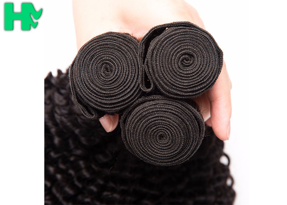 China Malaysian Natural Color Kinky Curly 100% Remy Human Hair Extensions Bundles supplier