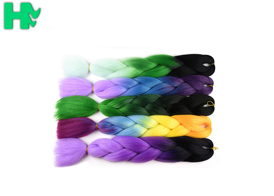 China 95 - 100g Artificial Synthetic Hair Pieces / Braiding Hair Extensions supplier