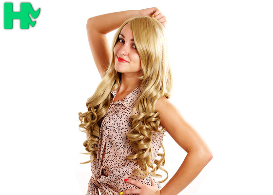China Attractive Design Synthetic Hair Wigs \ Non - Remy Hair Blonde Color supplier