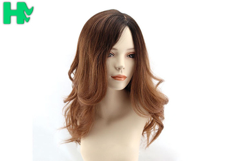China Two Tone Color Side Parting Bang Long Deep Wave Synthetic Wig For Women supplier