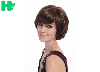 China High Temperature Fiber Short Synthetic Wigs 8'' Density 100% 120% supplier