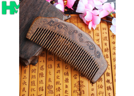 China High - End Hairdressing Wooden Beard Comb Anti - Static Solid Wood Carving Mushu factory