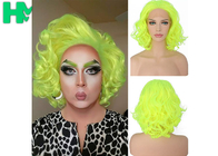 Graceful Green Curly Famale Colonial Costume Wig 12 Inch HT Fiber Material
