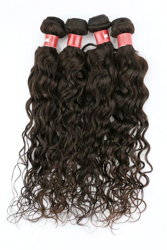 Tangle Free Clip In Natural Human Hair Extensions Brazilian Deep
