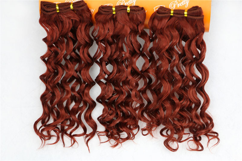 Yaki Red Natural Human Hair Extensions Clip In Jerry Curly 16 Inches