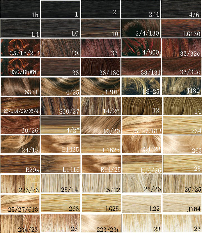 Synthetic Blonde Hair Color Chart Hair Dye Color Chart Customer