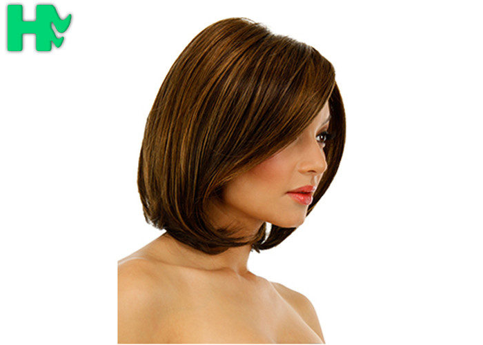 Short synthetic heat resistant hair extensions hairline bleached knots pmusecretfo Gallery