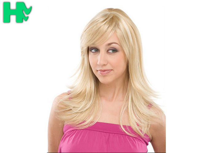 Stylish Long Wig Blonde Synthetic Hair Wigs  d3a526b2e9