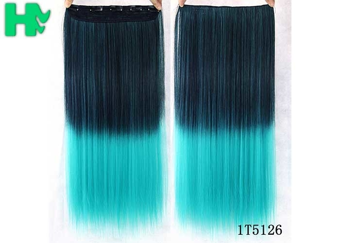 No Shedding Synthetic Hair Weave Extensions Machine Made 100 Gram