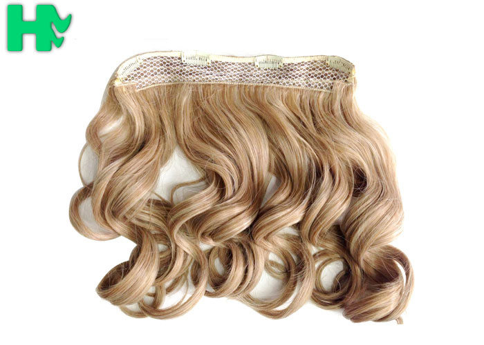 Heat Friendly Natural Curly Hair Wigs Double Weft Clip In Hair