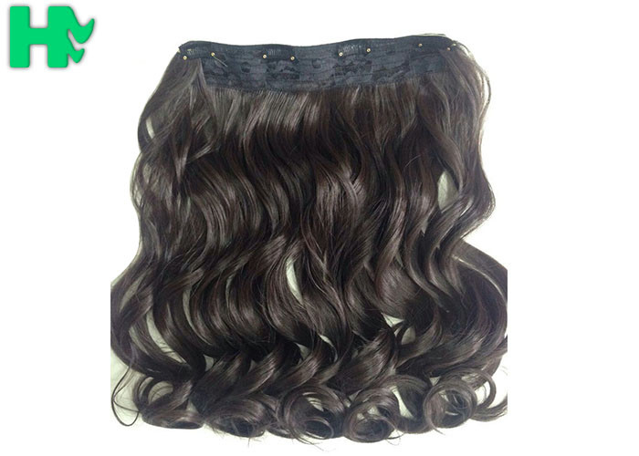 Chocolate Brown Curly Synthetic Hair Extensions Synthetic Hair