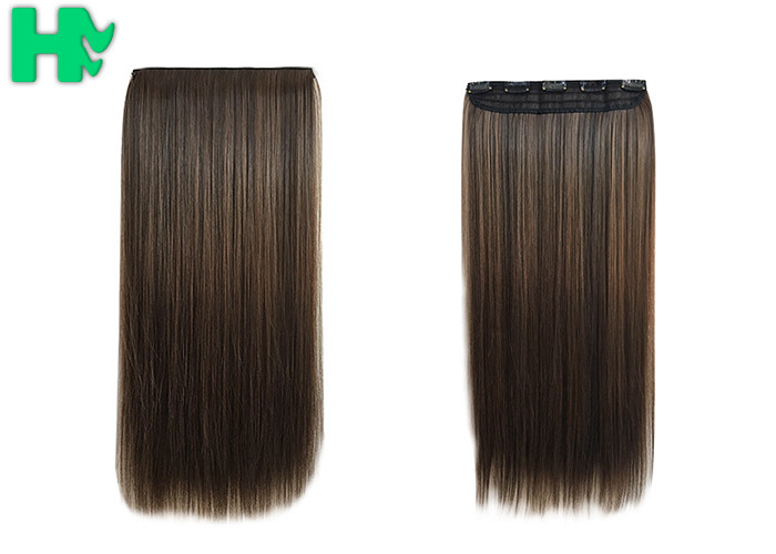 Straight Popular Synthetic Human Hair Extensions New Stylish