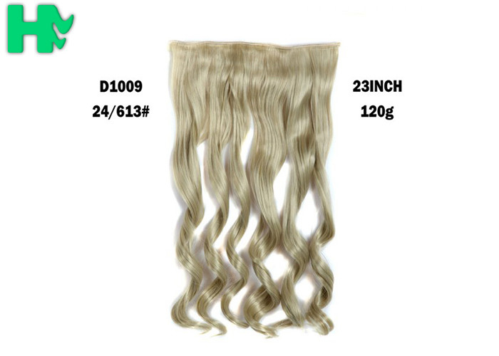 24613 Color Synthetic Clip In Hair Extension No Tangle No