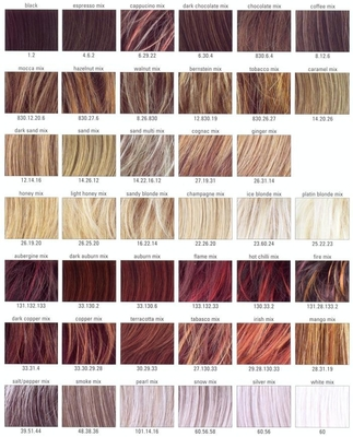 European People Auburn Hair Color Chart 10 Cm SGS Certification