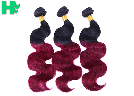Ombre Color Human Hair Natural Human Hair Weave Bundles 8A Body Wave