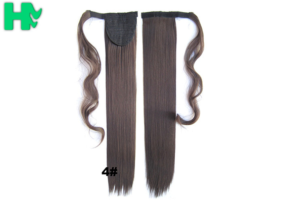 Soft Bond Long Synthetic Heat Resistant Hair Extensions Silky Straight 20 Inch
