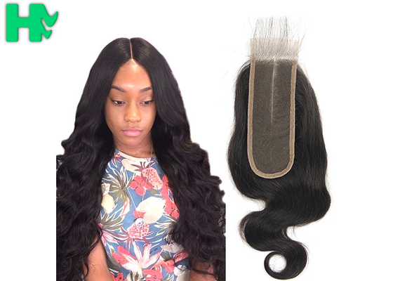 Raw Virgin 100% Human Hair Closure , Cuticle Aligned 2*6 Body Wave Lace Closure