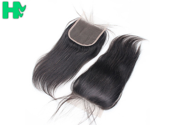 10A Grade 4x4 Free Part  Human Hair Closure / Full Lace Wigs With Baby Hair