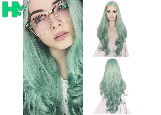 Fashion Multi Color Synthetic Cosplay Wigs , Long Curly Wave Hair Wigs
