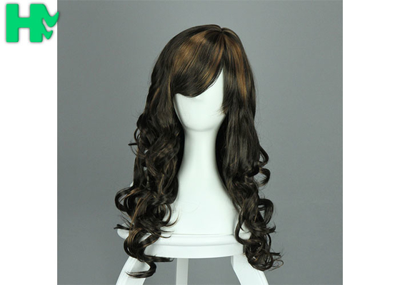 Sexy Full Wave Cosplay Party Long Synthetic Wigs For White Women SGS
