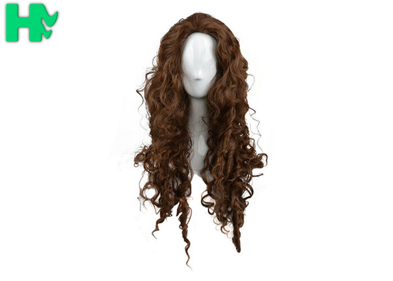 Curly Colorful Long Synthetic Wigs Non Remy Hair Ventilate Comfortable