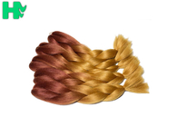 Ombre Braiding Wave Synthetic Hair Pieces No Lice Rainbow Color For Women
