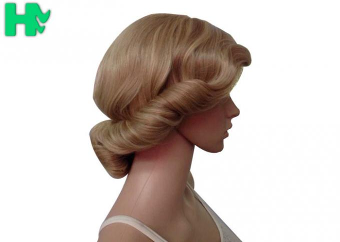 Dark Blonde Short Synthetic Wigs Full Lace With Short Ponytail Wigs
