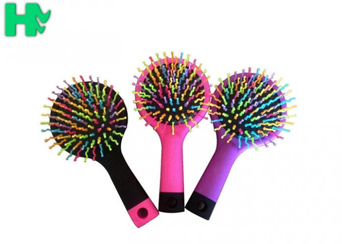 Polyester Rainbow Massage Comb For Straight Hair Or Curly Hair