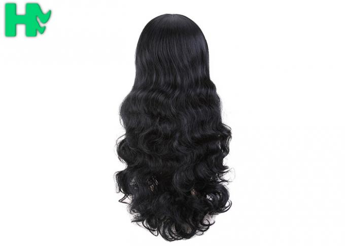 Black Body Wave High Temperature Fiber Wig For Women Extra Long