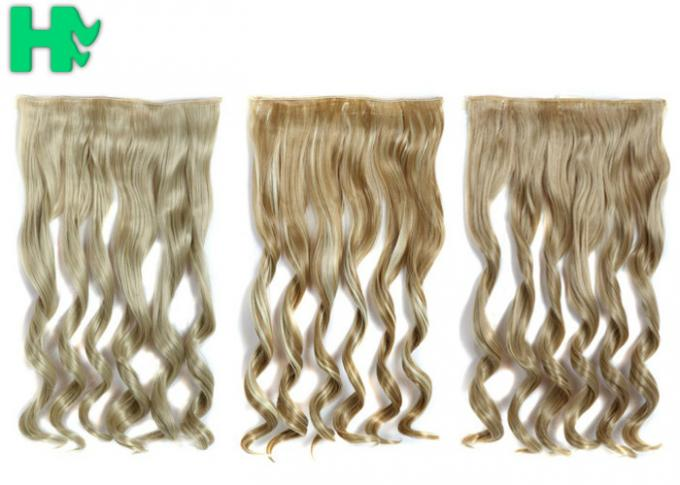 24/613 # Color Synthetic Clip In Hair Extension No Tangle No Shedding For Woman