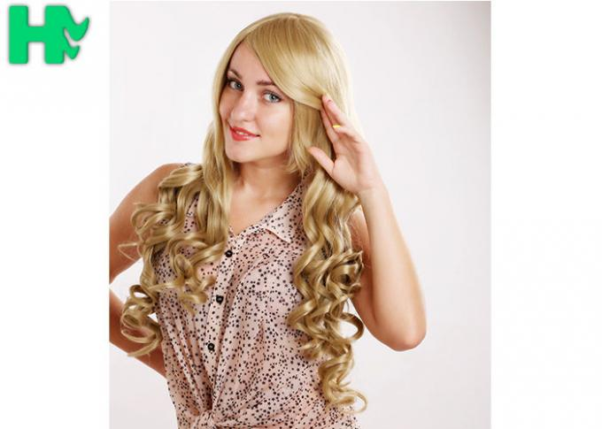 Attractive Design Synthetic Hair Wigs \ Non - Remy Hair Blonde Color